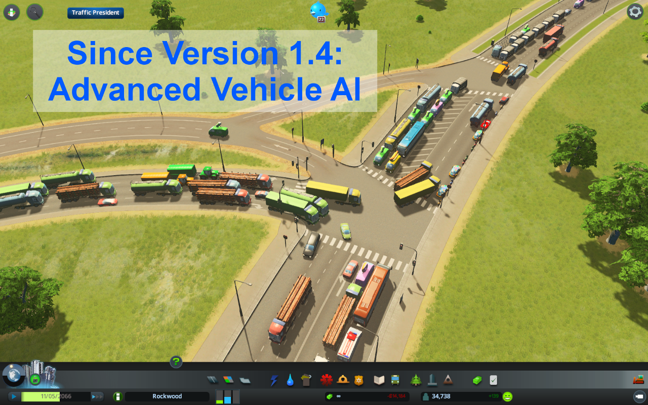 мод Traffic Manager для Cities Skylines