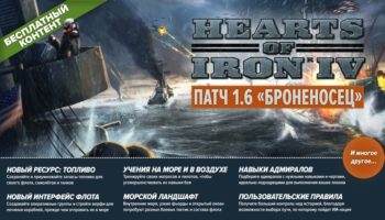 Обновление 1.6 «Броненосец» для Hearts of Iron 4