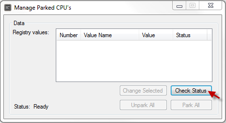 Disable CPU Core Parking Utility