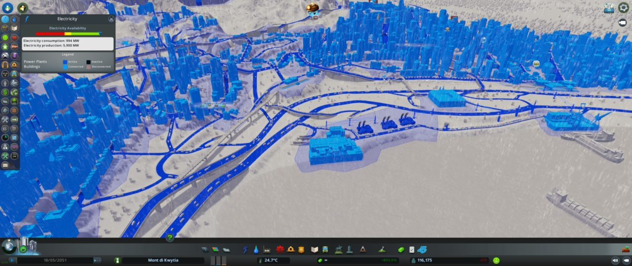 Мод Electric Roads Mod - электрифицированные дороги для CITIES SKYLINES