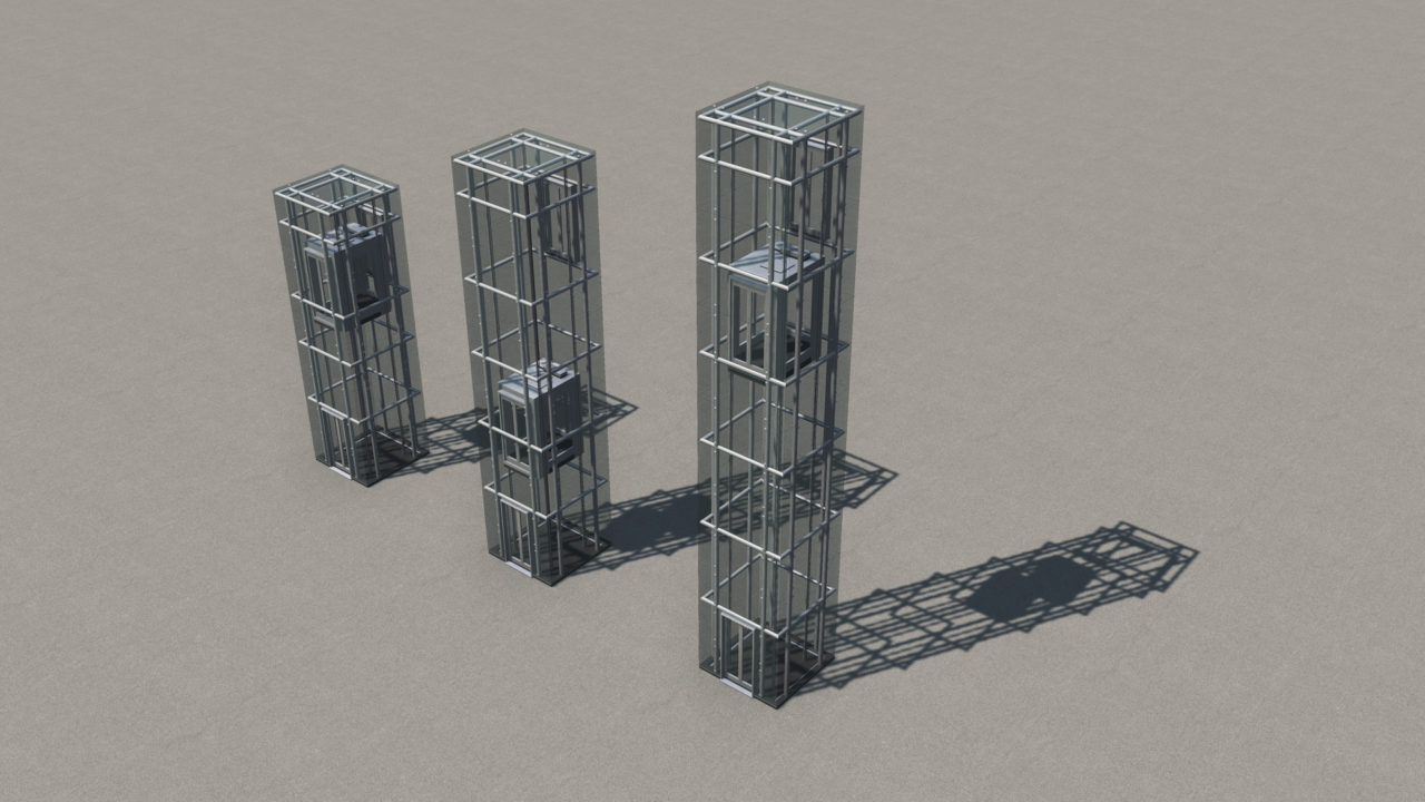 Мод Glass Elevators для Cities: Skylines