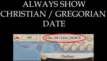 Мод Always show Christian / Gregorian Date для Imperator: Rome