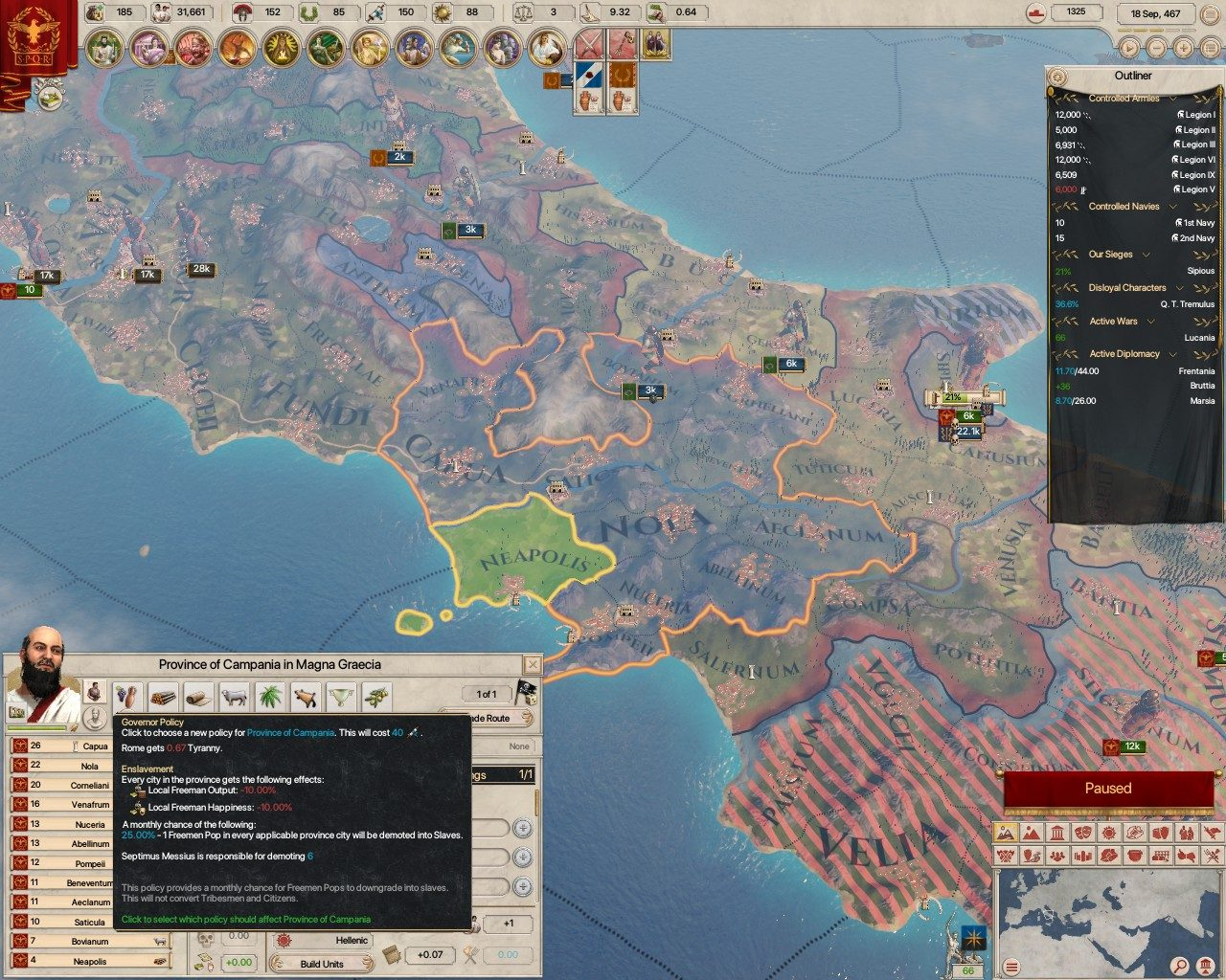 Мод Governor Enslavement Policy для Imperator: Rome