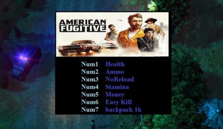 American Fugitive +7 Trainer для версии v1.0.17341