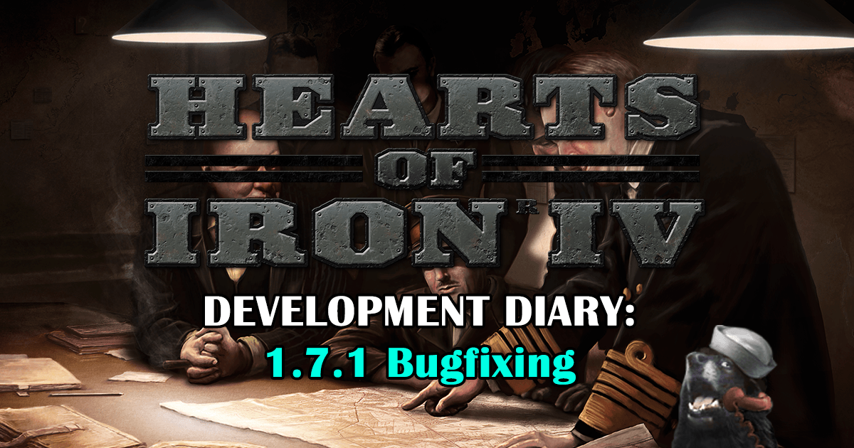 Hotfix 1.7.1 для Hearts of Iron 4