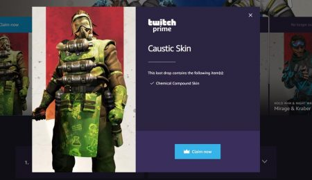 Twich Prime - Caustic 'Chemical Compound' Skin для Apex Legends
