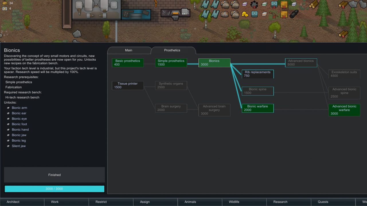 Мод Expanded Prosthetics and Organ Engineering для RimWorld