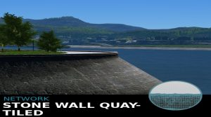 Мод Stone Wall Quay - Tiled для Cities: Skylines