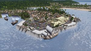 Мод Ancient Cargo Ship для Cities: Skylines