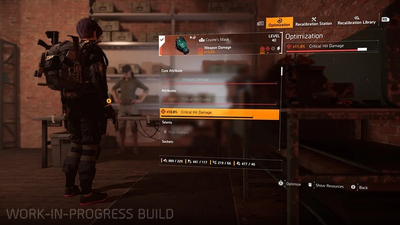 Станция Оптимизации в Tom Clancy's The Division 2